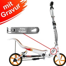 Space Scooter X580 weiß MIT GRAVUR (z.B. Namen)